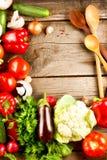 Vegetais orgânicos saudáveis Imagens de Stock