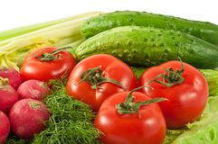Vegetais para a saúde Foto de Stock Royalty Free