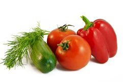 Vegetais para a salada Foto de Stock Royalty Free