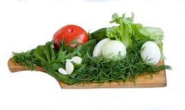 Vegetais para a salada Imagens de Stock