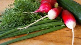 Vegetais para a salada Fotos de Stock