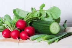 Vegetais para a salada saudável Foto de Stock