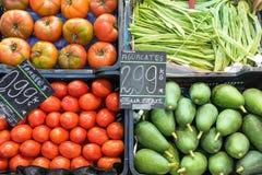 Vegetais para a venda em um mercado Fotografia de Stock Royalty Free