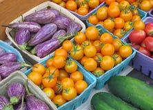 Vegetais para a venda em um mercado dos fazendeiros Imagem de Stock Royalty Free
