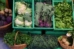 Vegetais para a venda na loja Imagens de Stock Royalty Free