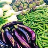 Vegetais para a venda no mercado Imagem de Stock Royalty Free