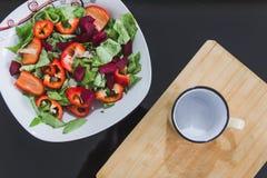 Vegetais preparados cozinhando imagens de stock royalty free