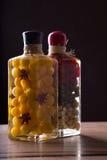 Vegetais preservados nos frascos Foto de Stock