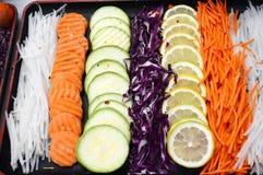 Vegetais processados Fotografia de Stock