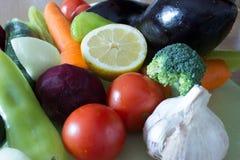 Vegetais prontos para processar Foto de Stock