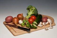 Vegetais que estão sendo preparados Imagem de Stock