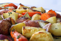 Vegetais Roasted com tomilho Fotos de Stock Royalty Free