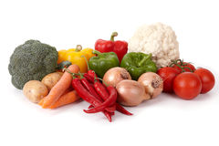 Vegetais saborosos frescos Fotografia de Stock Royalty Free