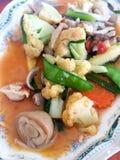 Vegetais salteado Fotos de Stock