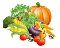 Vegetais saudáveis do produto fresco ilustração royalty free