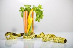 Vegetais saudáveis em um vidro Foto de Stock Royalty Free