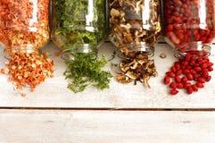 Vegetais secados dos ingredientes Imagem de Stock