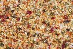 Vegetais secados e especiarias misturados Fotos de Stock