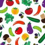 Vegetais sem emenda do teste padrão ilustração stock