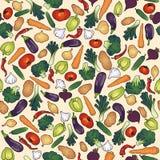 Vegetais sem emenda do teste padrão Foto de Stock Royalty Free