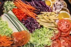 Vegetais shredded crus diferentes Imagens de Stock