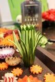 Vegetais shredded crus diferentes Imagem de Stock Royalty Free