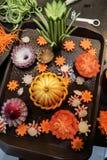 Vegetais shredded crus diferentes Foto de Stock Royalty Free
