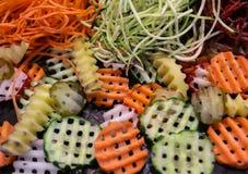 Vegetais shredded crus diferentes Fotos de Stock Royalty Free