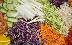Vegetais shredded crus diferentes como exemplo de uma dieta saudável Fotos de Stock Royalty Free