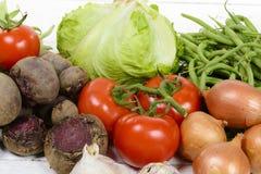 Vegetais sortidos das estações Fotografia de Stock Royalty Free