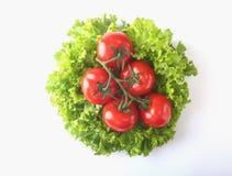 Vegetais sortidos frescos com alface de folha Isolado no fundo branco Foco seletivo Imagens de Stock