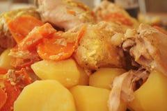 Vegetais Stewed com carne Imagens de Stock