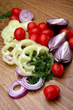 Vegetais suculentos e brilhantes da cor das salmouras Fotografia de Stock Royalty Free