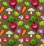 Vegetais. Teste padrão sem emenda Foto de Stock Royalty Free