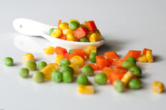 Vegetais três cores Fotografia de Stock