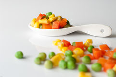 Vegetais três cores Foto de Stock Royalty Free