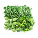 Vegetais verdes congelados Imagem de Stock Royalty Free
