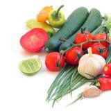Vegetais verdes frescos foto de stock