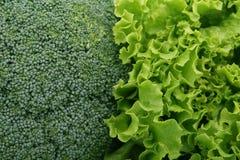 Vegetais verdes frescos, ascendente próximo do macro Imagens de Stock Royalty Free