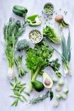 Vegetais verdes sortidos Fotografia de Stock