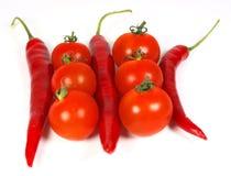 Vegetais vermelhos Fotos de Stock