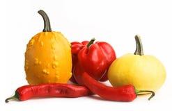 Vegetais vermelhos e amarelos Imagem de Stock