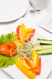 Vegetais vermelhos e amarelos Fotografia de Stock