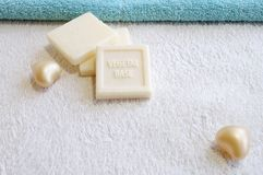 Vegetal base soap for bath and spa treatment Stock Photo