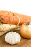 Vegetal do alho da cebola da cenoura da pastinaga para preparar a sopa doméstica Fotos de Stock