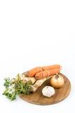 Vegetal do alho da cebola da cenoura da pastinaga para preparar a sopa doméstica Imagens de Stock