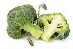 Vegetal dos brócolos isolado no branco Imagens de Stock Royalty Free