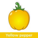 Vegetal dos desenhos animados - pimenta amarela grande Fotografia de Stock