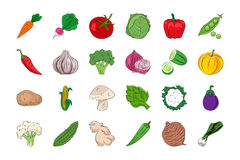 Vegetal e frutos 1 Foto de Stock Royalty Free