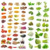 Vegetal, erva, especiarias isoladas no fundo branco Fotos de Stock Royalty Free